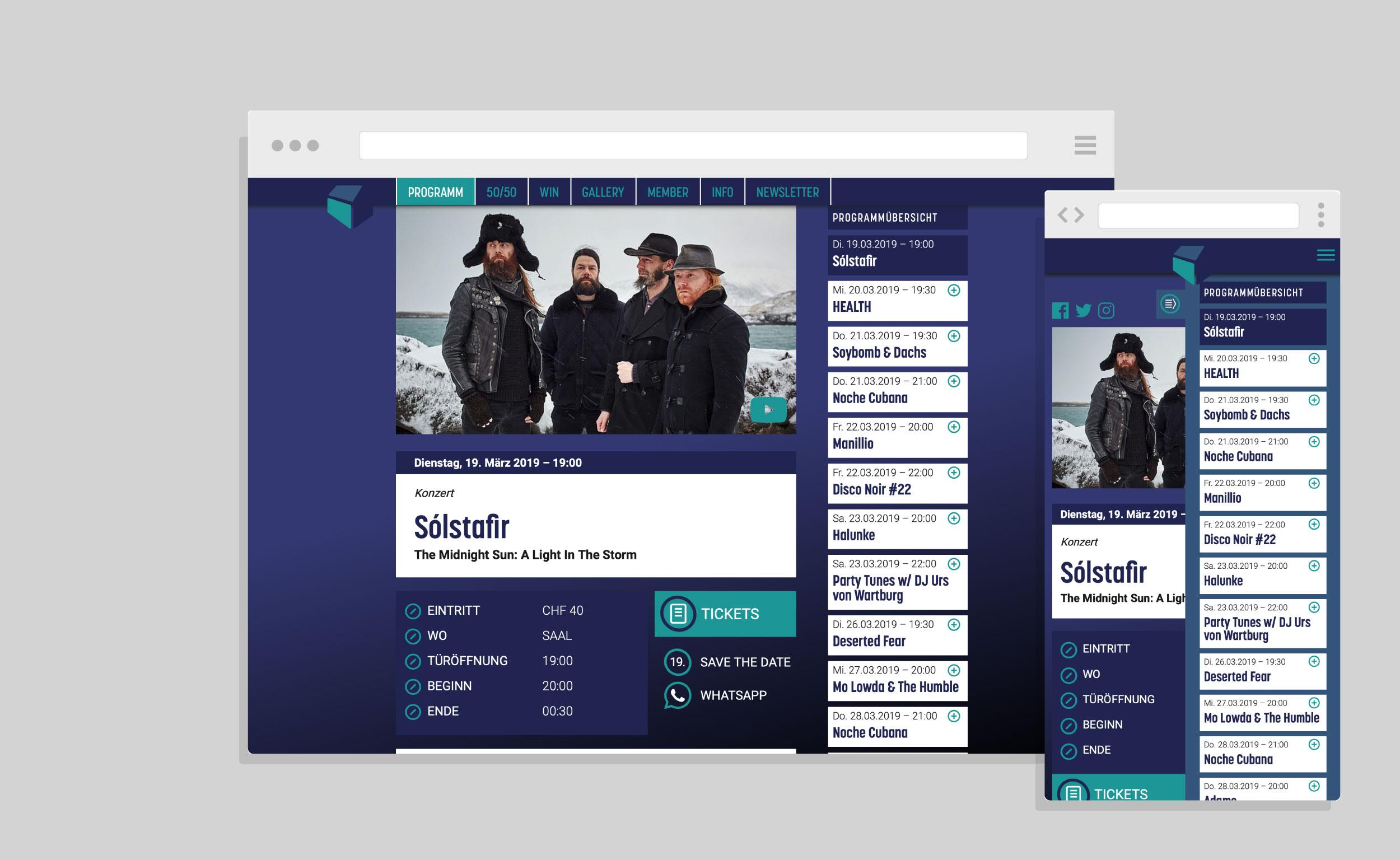 Schüür Website
